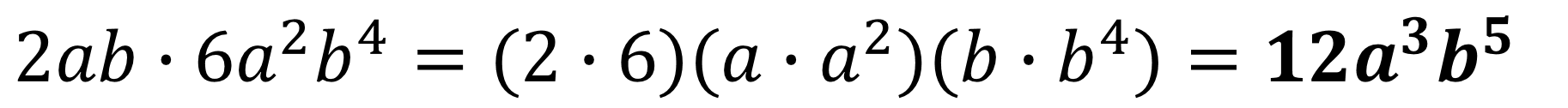 prodotto di monomi esempio 1