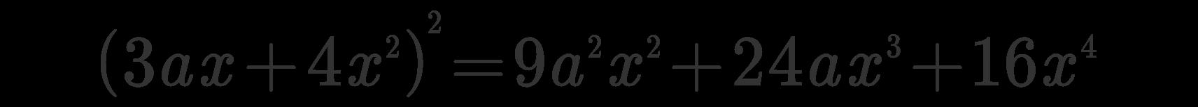 Quadrato di un binomio esempio 2