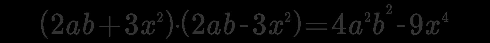 Somma per differenza esempio 2