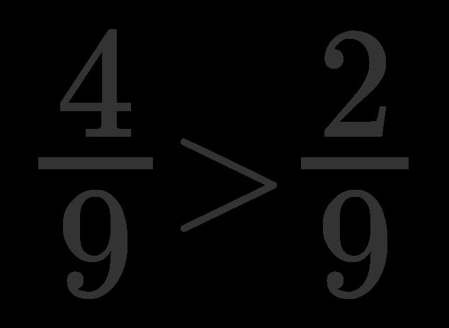 Confronto tra frazioni 1