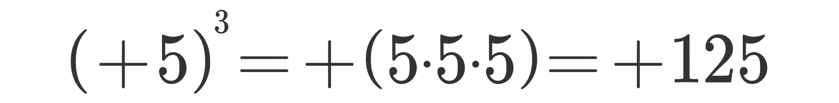 Potenza di numeri relativi 5
