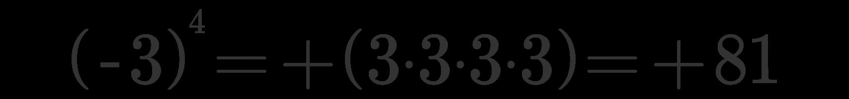 Potenza numeri relativi 2