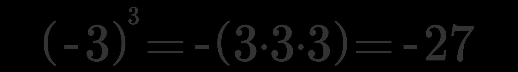 Potenza numeri relativi 3