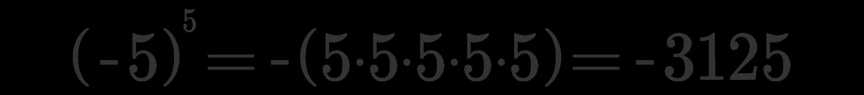 Potenza numeri relativi 4