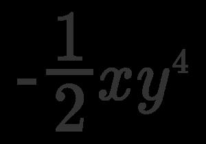 coefficiente e parte letterale